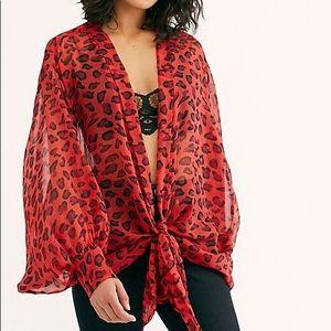 Amazon Tie Front Kimono